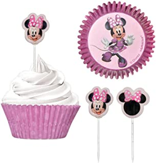 Minnie Mouse Cupcake Cases and Picks | Pink | Decoration | 48 Pcs.