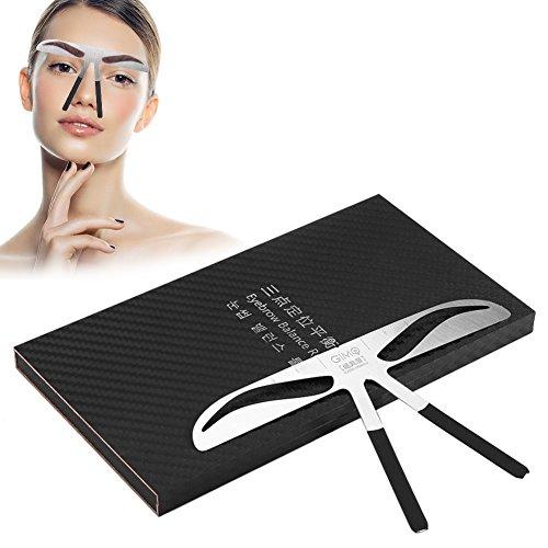 Règle de sourcil, mesure permanente de sourcil de tatouage extension d'équilibre Conception de positionnement de trois points Outil de maquillage de forme de règle(sourcil classique)