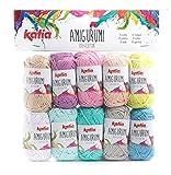 Katia Amigurumi- Ovillos de lana, color:colores 101-110(S01)-10g/aprox.33 m de lana