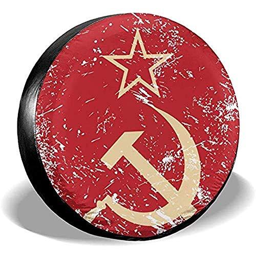 Beth-D Communism Sovjet Unie Retro Vlag Universele Fit Tire Covers Waterdichte stofdichte Reserveband Cover 14-17inch