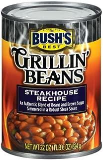 Bush's Best Steakhouse Recipe Grillin' Beans 22 oz (Pack of 12)