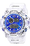 Sunway Digital Mult - Function Blue Dial Water White Synthetic Strap Latest Men's & Boys Sports Watch