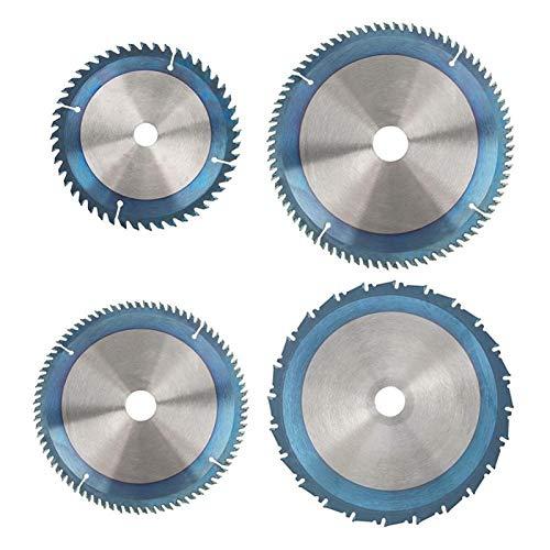 ESUHUANG Recubrimiento Circular Azul Hoja de Sierra de Corte de Madera de la Hoja de Disco for la Amoladora Angular de Rotary Cutting Tools Suministros de Herramientas (Color : 160x1.8x20x48T)