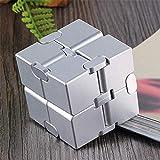 XJZKA Cubo de Rubik Infinito de aleación de Aluminio Mini Cubo de aleación de Aluminio sólido Completo de Segundo Orden Resistente y sin Adhesivo Juguete de descompresión de fregado, pla