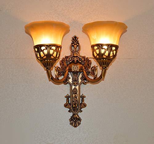 Amerikaans vintage dubbele slider glas wandlamp lamp DIY Europese home deco slaapkamer retro E27 LED-lamp muur verlichting