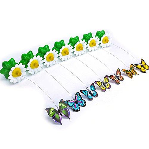 Rocita Elektrische drehendem Schmetterling Katze Toys Zwei Blinkende Schmetterlinge Interaktives Katzenspielzeug Spielzeug (Butterfly)