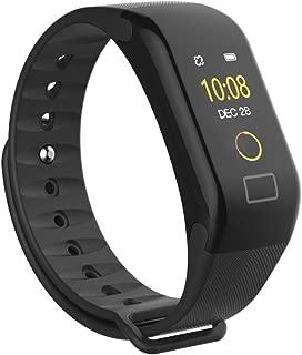 Smart Bracelet Watch Men Women 🎃 F1 Color Screen Fitness Blood Pressure Oxygen Heart Rate Monitor Smart Watch Wristband (Black)