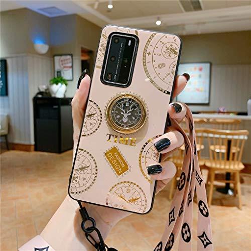 NiaCoCo Compatible con Samsung Galaxy A50 Funda 1*Protector de Pantalla,360 Grados Soporte de Anillo de Rotación Ultra Thin Anti Scratch con Pequeños Diamantes Carcasa de Telefono(Dorado)