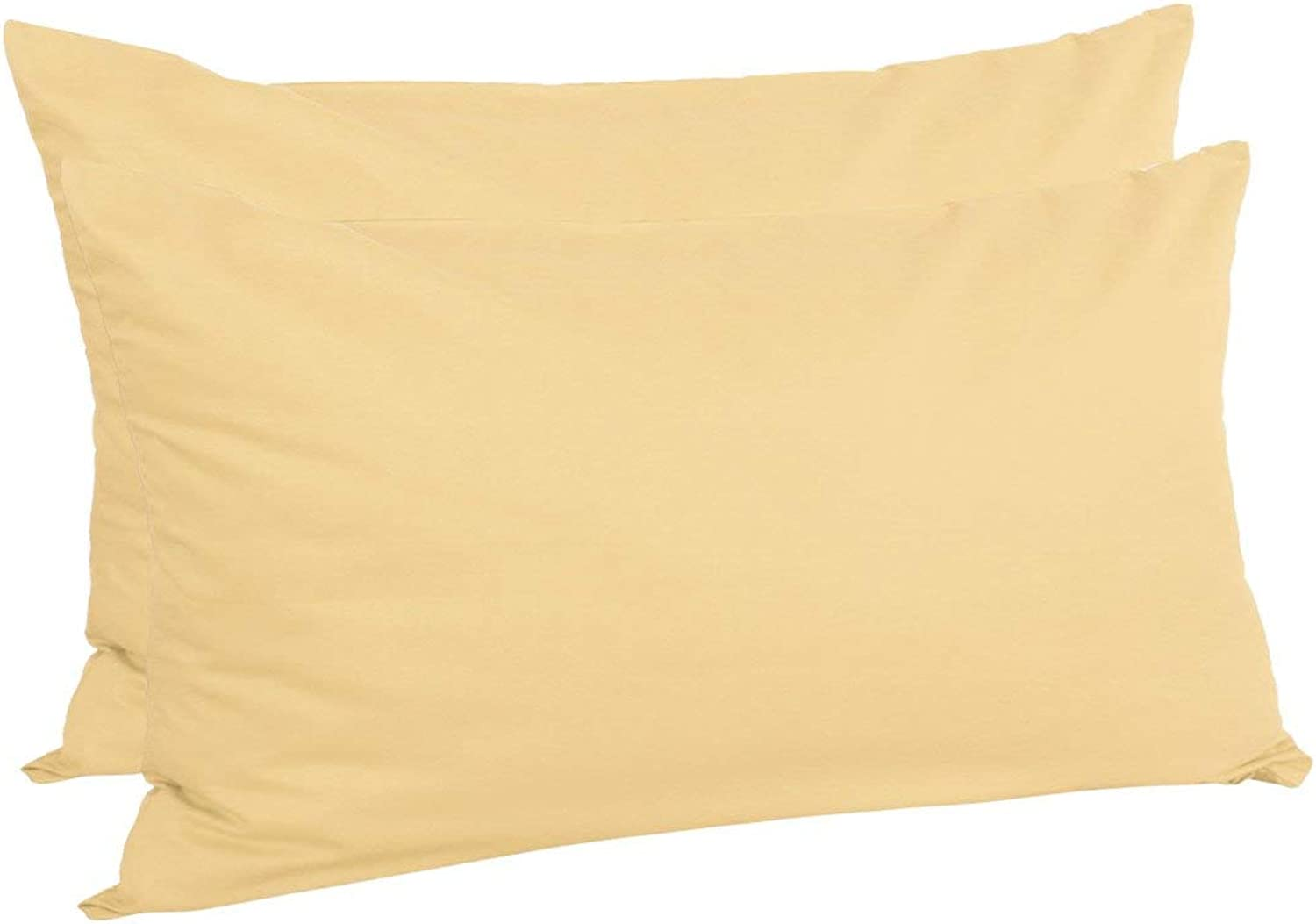 King (20\ x 36\), Yellow   Zippered King Pillow Cases Pillowcases Covers Predectors, Egyptian Cotton 300 Thread Count, 20 x 36 Inch, Yellow, Set of 2