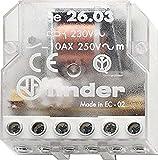 Finder 260382300000PAS - Caja de interruptores de control remoto 230 VAC 1 NO / 1 NC 10 A