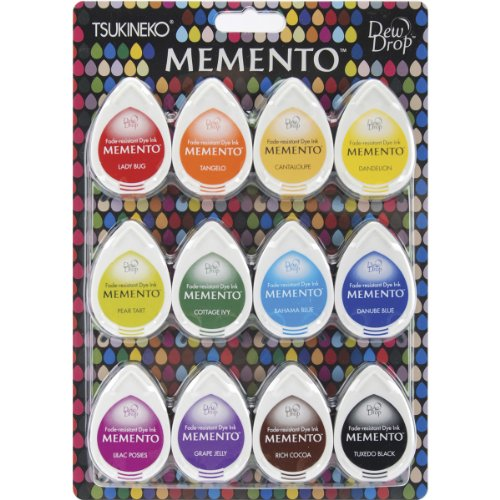 Memento Dew Drop Dye Ink Pads 12/Pkg-Gum Drops