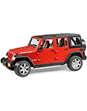 Bruder Jeep Wrangler Unlimited Rubicon Toys, Red, 2525