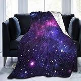 BLUBLU Galaxy Flannel Fleece Bed Blanket Throw Blanket Lightweight Cozy Plush Blanket for Bedroom Living Rooms Sofa Couch 50'x40'