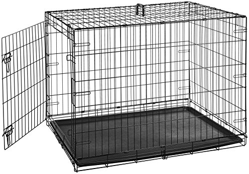 AmazonBasics Folding Metal Single-Door Dog Crate