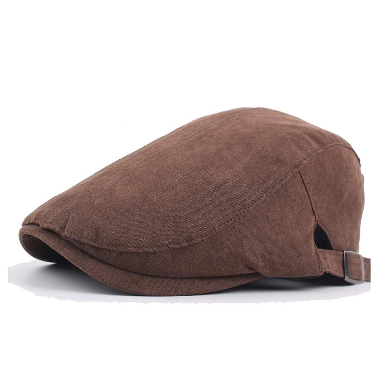 打撃フィラデルフィアチョップファッションハット, 流行に敏感なベレー帽の秋の綿の画家の帽子の男性の女性のレトロなベレー無地シンプルなフォワードキャップ綿縫合糸 帽子 (色 : コーヒー, サイズ : 56-58CM)