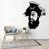 wZUN Pirate Capitaine Enfants Chambre décoration Stickers muraux décoration Chambre Pirate Bateau garçon Chambre Papier Peint 50X62 cm