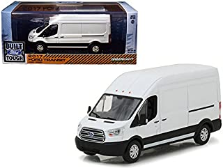 2017 Ford Transit LWB High Roof Van Oxford White 1/43 Diecast Model Car by Greenlight 86083