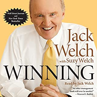 Winning                   By:                                                                                                                                 Jack Welch,                                                                                        Suzy Welch                               Narrated by:                                                                                                                                 Jack Welch                      Length: 11 hrs and 23 mins     92 ratings     Overall 4.6