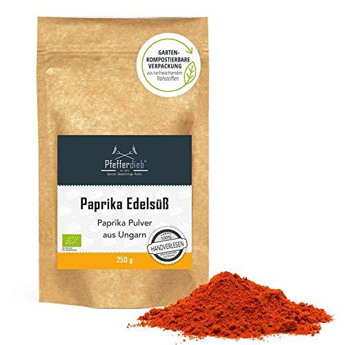 Paprika edelsüß BIO, gemahlen, Paprikapulver ungarisch, Premium BIO-Qualität, handverlesen, 250g - Pfefferdieb®