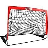 Amazon Brand – Umi – Portería de fútbol – Red de fútbol, 4'x3',Rojo Manzana