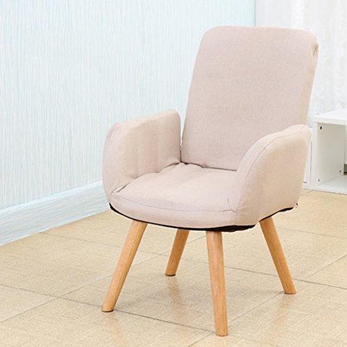 Pliage canapé paresseux dortoir individuel chaise d'ordinateur Ménage balcon chambre moderne Simple chaise d'allaitement -LI JING SHOP (Couleur : Blanc crème)