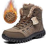 Sin marca Zapatos De Hombre Zapatos De Trabajo Acolchados Cálidos De Invierno para Hombres Botas Altas Antideslizantes Impermeables Botas De Nieve Anticongelantes para Hombres Al Aire Libre