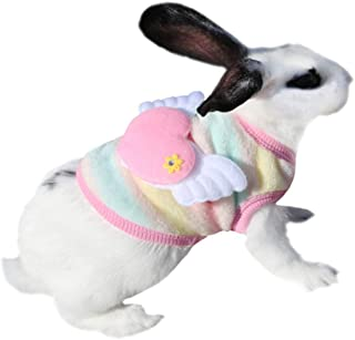 Winter Warm Fleece Bunny Rabbit Clothes Cute Small Animal Guinea Pig hilla Ferret Angel Costume Accessories Outfit for Ham...