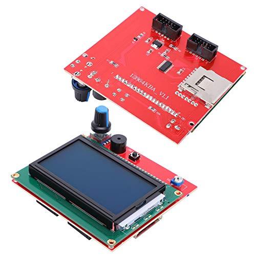 SALUTUYA Controlador Inteligente de Impresora 3D de Placa Base LCD 12864 con Adaptador y Accesorios de Impresora 3D de línea