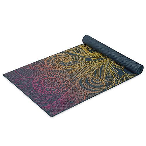 Tappetino da yoga Gaiam - Colori disponibili, unisex adulto, Gaiam - Tappetino da yoga, 4 mm, Zest vivace, 68 L x 24 W x 4mm Thick