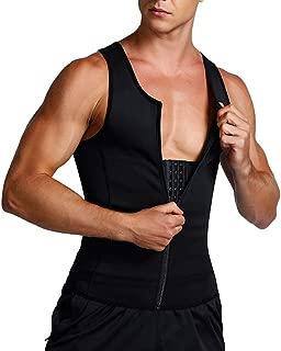 Mens Shapewear Tank Top Lumbar Back Support Liposuction Compression Garment Control Top Underwear