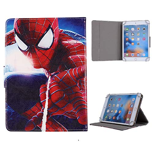 Kids Case for iPad 10.2 Inch 2020 2019 (7th 8th Generation) / iPad Pro 10.5/ iPad Air 3, Stand Up Flip Protective Case (Spiderman Spinning)