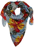 Camel Active Womenswear 307510 Pañuelo, Multicolor (Light Blue 41), Talla única (Talla del fabricante: OS) para Mujer