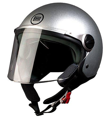 BHR Motorradhelm, Demi-Jet, Modell 710 55/56 silber/schwarz