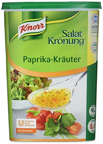 Knorr Salatkrönung Paprika Kräuter Dressing (Basis für Salatdressing mit ausgesuchten Kräutern, Gewürzen und kräftiger Paprikanote) 1er Pack (1 x 1 kg)