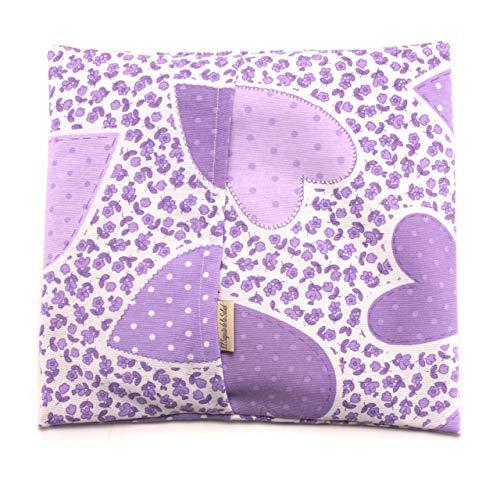 Preisvergleich Produktbild Saquito de la Salud Wärmekissen mit Samen,  Duft Lavendel,  Orange / Rosmarin,  Stoff Blumen Lila L (28 x 26 x 2 cm Con Funda)