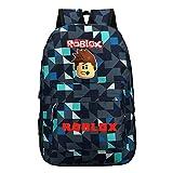 Unisex Roblox Mochila de Lona Portátil Dibujos Animados de impresión School Bag Mochilas...