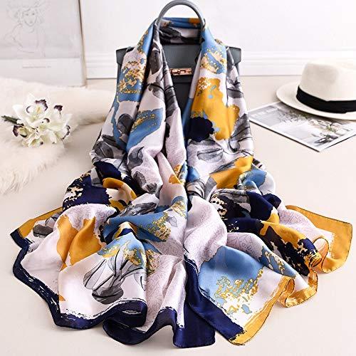 Vcnhln Primavera y otoño Bufanda cálida para Mujer Bufanda de Seda Suave mantón Protector Solar Toalla de Playa Poncho