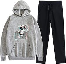 MLX-BUMU My Hero Academia Anime Cosplay Hoodie Sweatshirt Heren/Vrouwen Trainingspak + Sweatpant Set Harajuku Streetwear H...