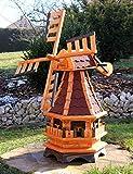 Dekorative Windmühle mit Solar rot Typ 17