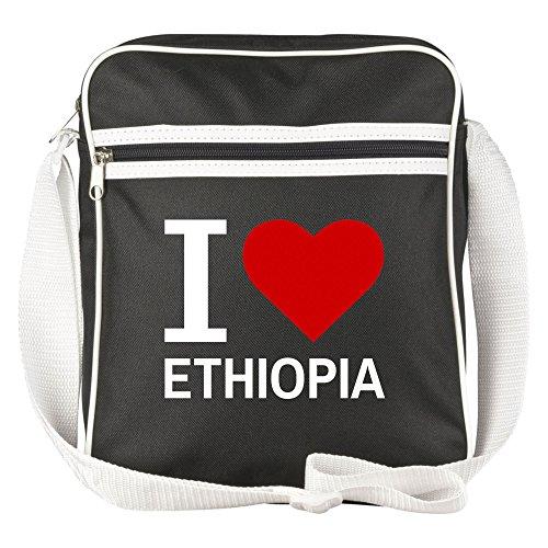 Schultertasche Classic I Love Ethiopia schwarz - Lustig Witzig Sprüche Party Tasche