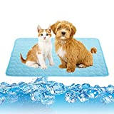 Washable Dog Cooling Mat Ice Silk Pet Self Cooling Pad Blanket, Breathable Summer Cooling Mat for Dog & Cats ,Pet Self Cooling Blanket for Outdoors, Indoors, Kennels, Crates or Cars
