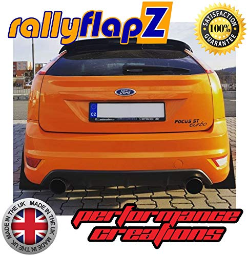 Black 4mm PVC rallyflapZ//Set of 4 Custom Made Mud Flaps Including Fixing Hardware /& Instructions RFFST180-BLK