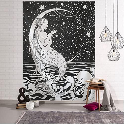 Pintura nórdica patrón geométrico tapiz mandala tapiz decorativo bohemio tela colgante A2 130x150cm