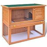 Festnight- Cage Clapier Extérieur en Bois pour Lapins 1 Porte