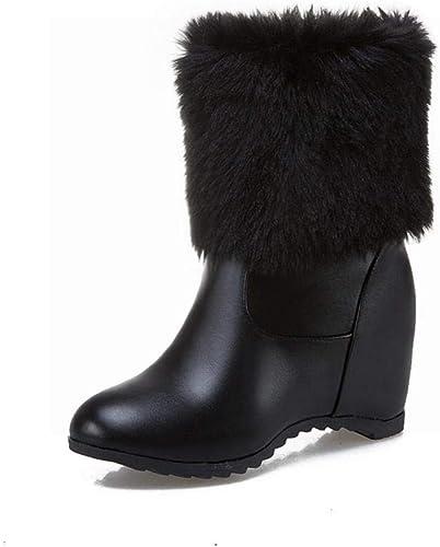 ZHRUI Stiefel de Invierno para damen - Cálidas Stiefel Anti esquís Inner Heights - Botines para damen   36-43 (Farbe   schwarz, tamaño   36)
