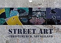 Street Art - Christchurch, Neuseeland (Wandkalender 2022 DIN A4 quer): Farbenpraechtige Impressionen moderner Kunstwerke (Monatskalender, 14 Seiten )