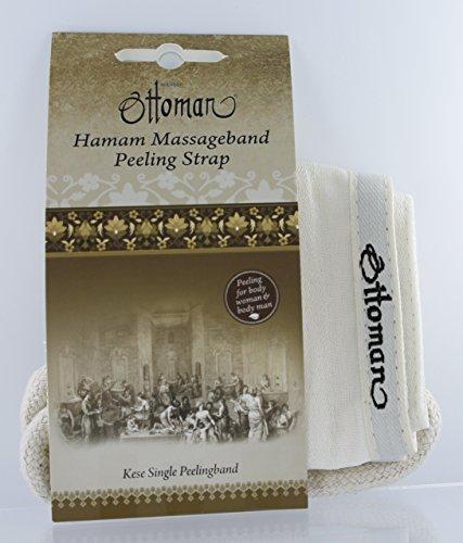Ottoman Pflegeserie Hamam Massageband Kese Single für Rückenmassage, 1er Pack (1 x 1 Stück)