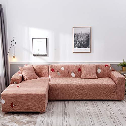NOBCE Funda de sofá antisuciedad Funda de sofá de Sala de Estar en Forma de L Funda de sofá elástica 195-230CM
