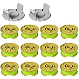 CDIYTOOL 11ft 0.080' Replacement Trimmer Spool for Ryobi One Plus AC80RL3 18V 24V and 40V Cordless Trimmers Line Refills Weed Wacker Auto-Feed Twist Single Line Parts (12 Pack+2 Caps)