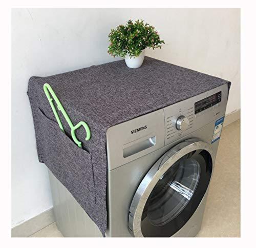 MAGFYLY Multifunctionele Wasmachine koelkast stofkap doek, effen kleur moderne eenvoudige katoen waterdichte zonnebrandcrème voor automatische wasmachine cover, koelkast